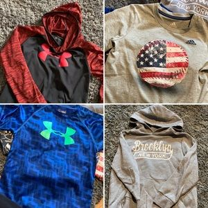 Other - 17pc lot 6/7 boys short & long-sleeve tees, hoodie